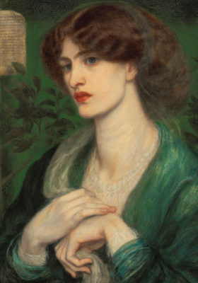 Dante Gabriel Rossetti The Salutation of Beatrice, 1869